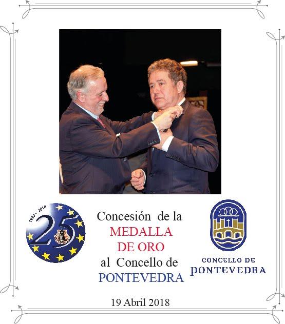 Gala XXV Aniversario e imposición Medalla de Oro Concello de Pontevedra
