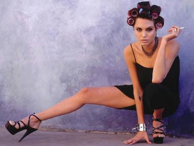 Angelina Jolie smoking