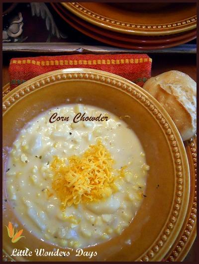 corn chowder recipe, corn theme lesson plans