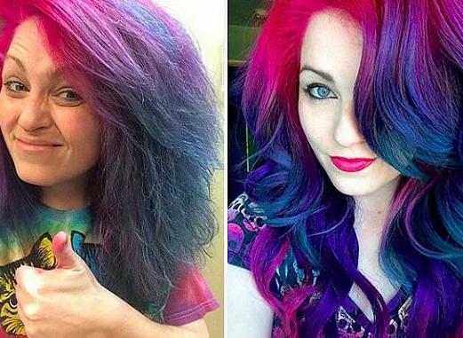 rainbow hair cabelos coloridíssimos arco-iris