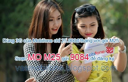 Thông tin gói cước M25 của Mobifone và cách đăng ký