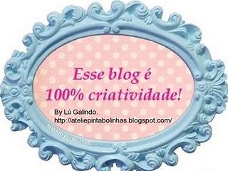 Selinho que ganhei da amiga Claudiana dona do Blog Encantos em Ponto Cruz.