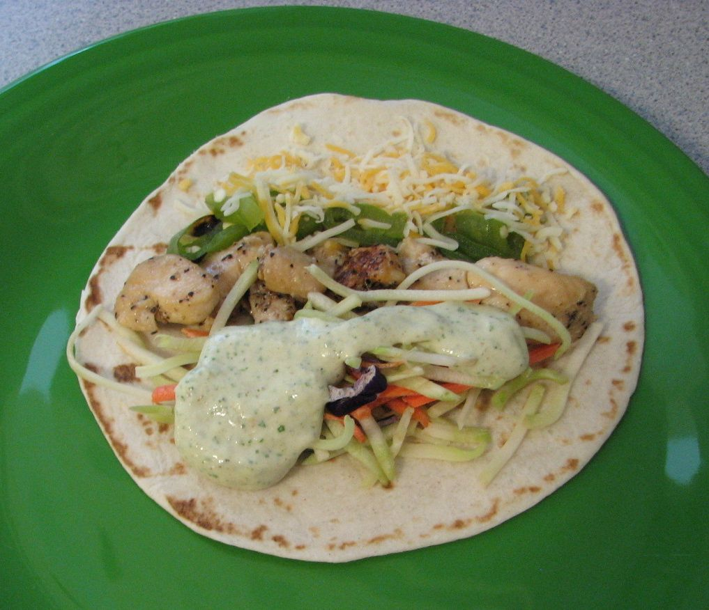 Shel's Kitchen: Chicken Tacos with Cilantro Cream Sauce