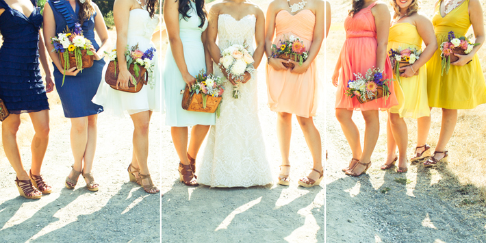 What can bridesmaids hold instead of flowers The best wedding