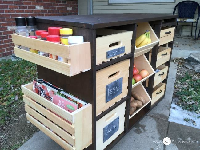 build a kitchen island with pantry storage handy diy