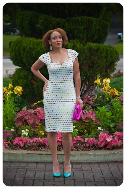Vogue 8612 | The Lip Print Neoprene Sheath Dress! Erica B's DIY Style!