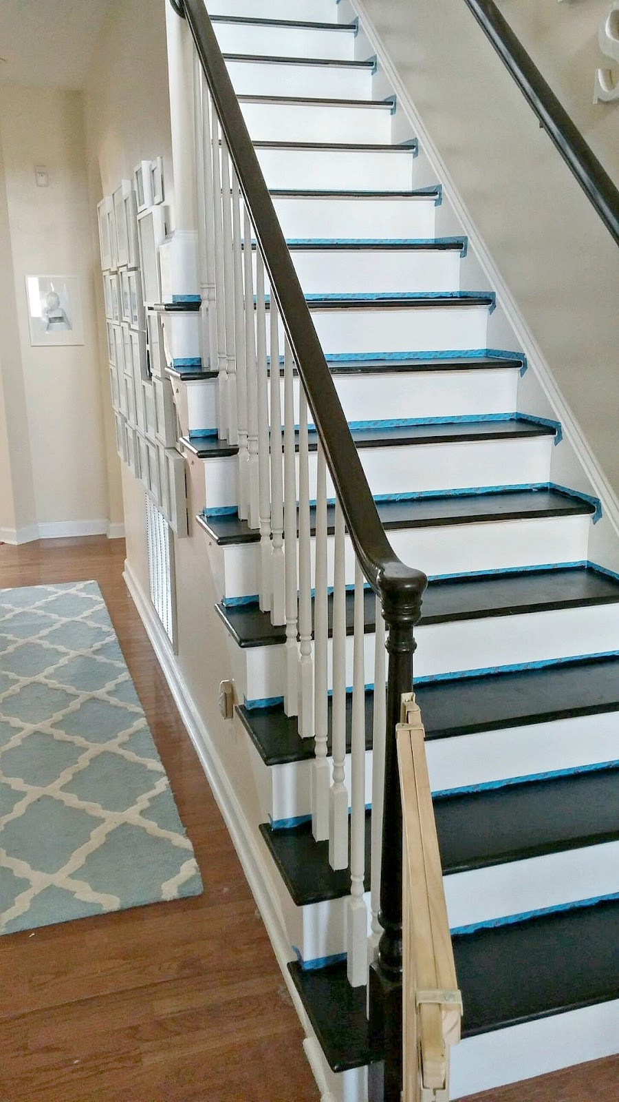 Today Tal Applied Two Coats Of Water Based Poly To The Stair Treads. (We  Selected A Satin Finish, So The Poly Will Be Less Likely To Trap Dust And  Cause ...