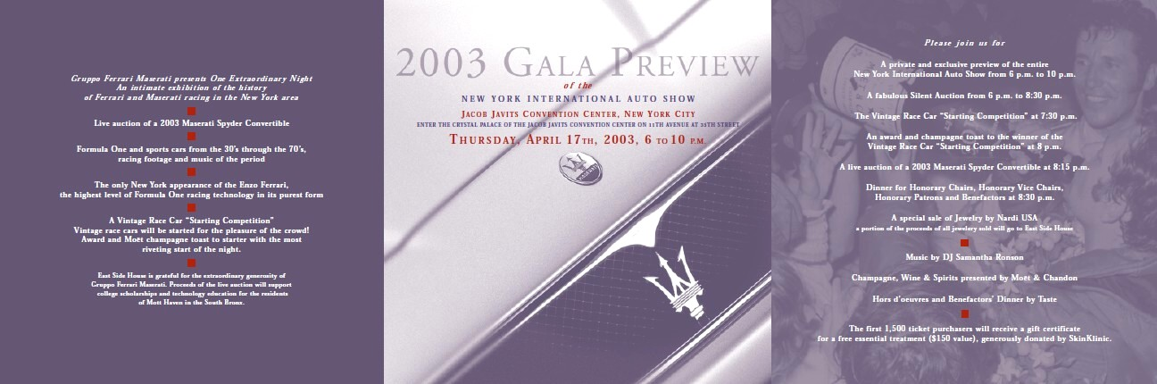 T.R. Nimen Inc | 2003 Gala Preview Invite | Print