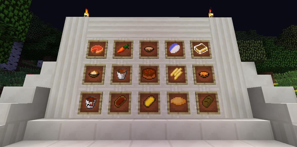 Minecrart mods food plus mod 1 6 4 1 6 2 1 5 2 for Cuisine minecraft