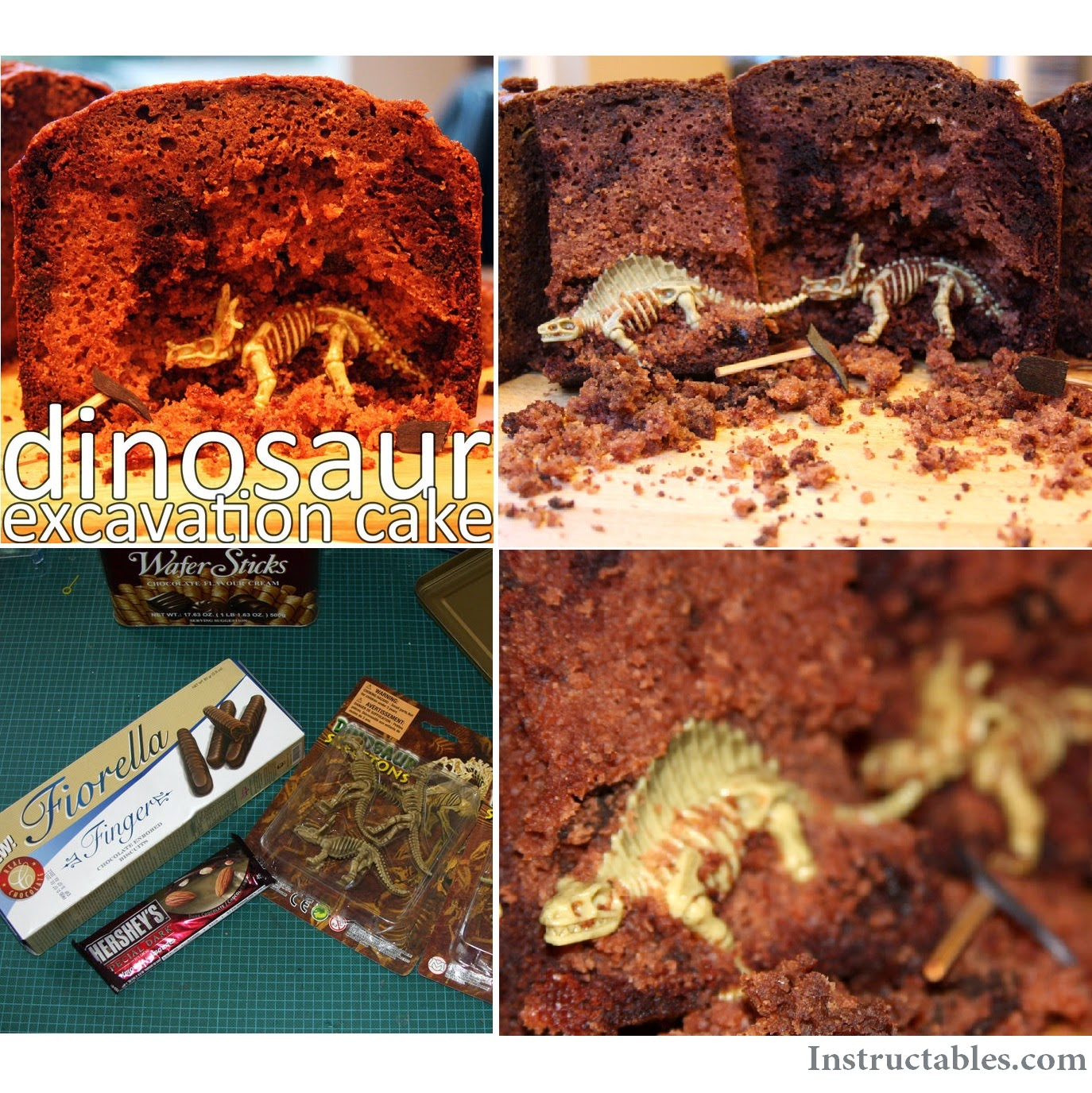 http://www.instructables.com/id/dinosaur-excavation-cake/?ALLSTEPS