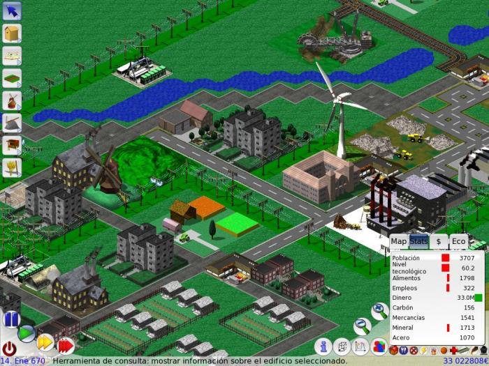 simulador cidade LinCity NG game PC
