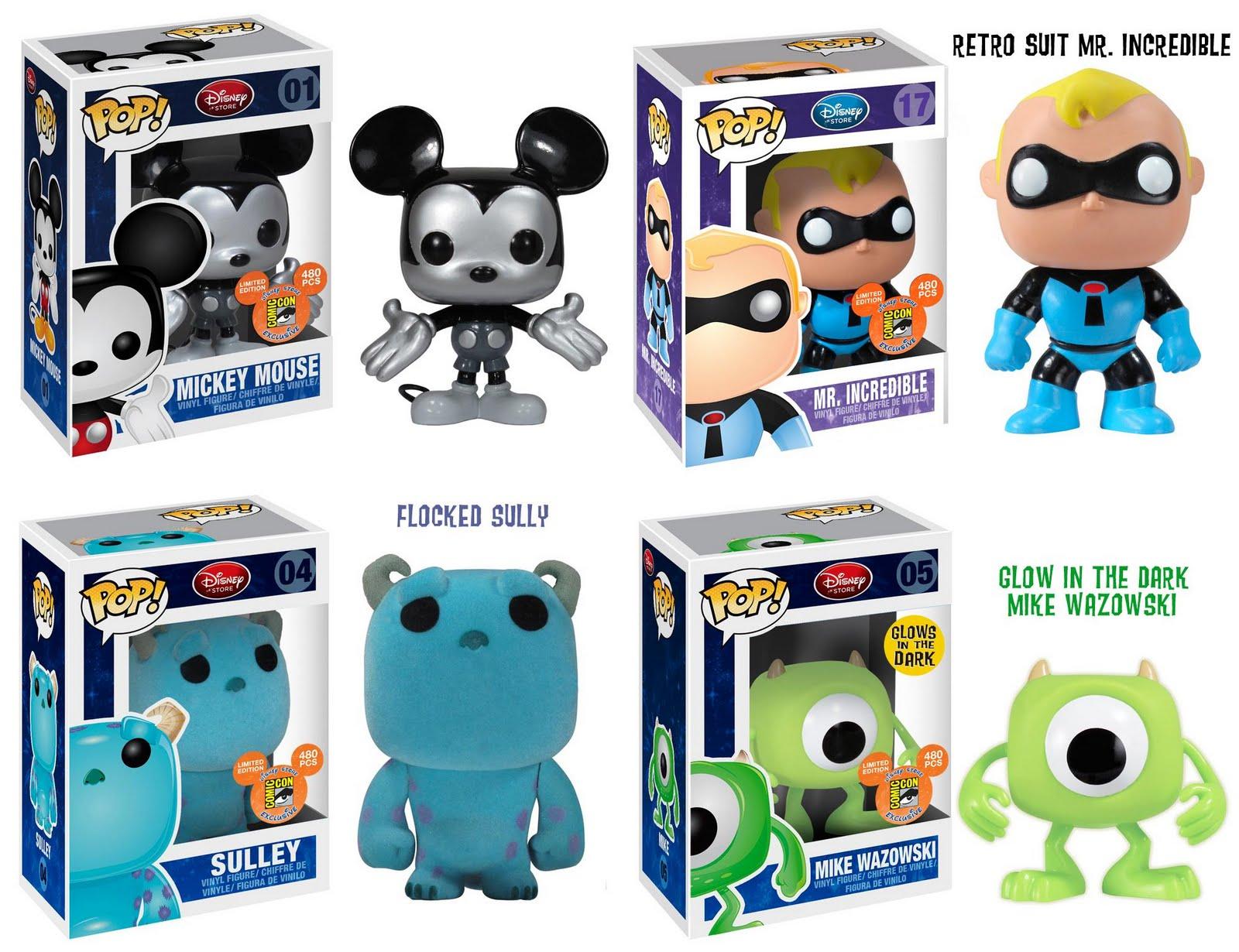 The Blot Says Sdcc 2011 Exclusive Pop Disney Store Vinyl Funko Comics Hellboy In Suit San Diego Comic Con Figures Metallic Mono Mickey