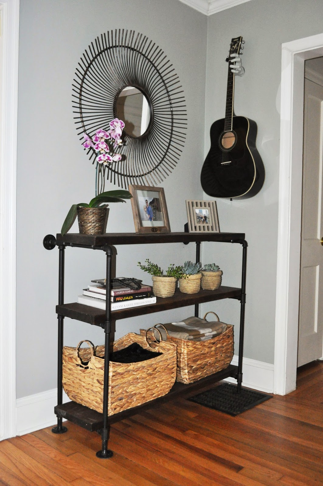 the cow spot diy console table. Black Bedroom Furniture Sets. Home Design Ideas