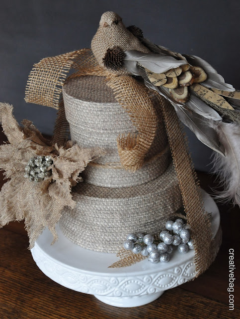 holiday gift wrapping ideas from creativebag.com | Lorrie Everitt's elegant rustic theme