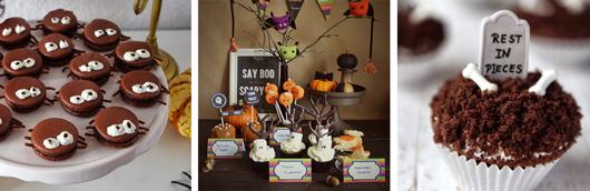 Halloween Rezepte Gebäck, Kuchen und Sweet Table