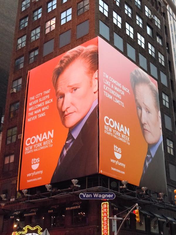Conan O'Brien NYC TV bilboards