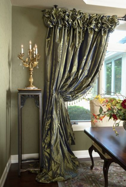 Curtains rowley company blog for Dining room curtains ideas