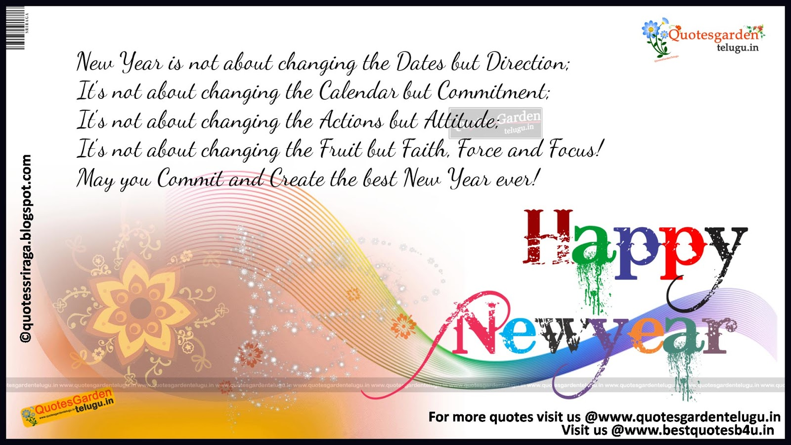 Happy new year Inspirative lines sms messages for for friends ...