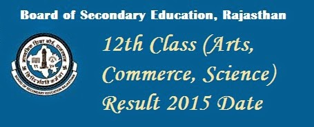 Rajasthan Board 12th Class Exam Result Date 2015