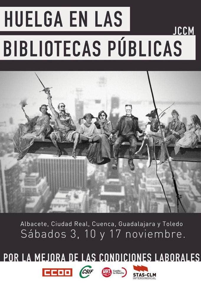 LAS BIBLIOTECAS PÚBLICAS DE CASTILLA LA MANCHA EN HUELGA