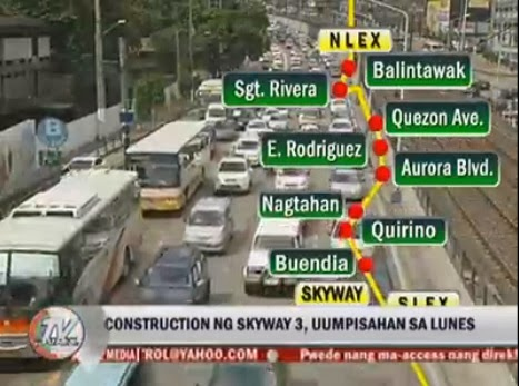 SkyWay 3 route MMDA