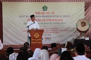 Menag: Langgam Bacaan Al-Quran Khas Nusantara, Perkaya Khazanah Qiraah Kita
