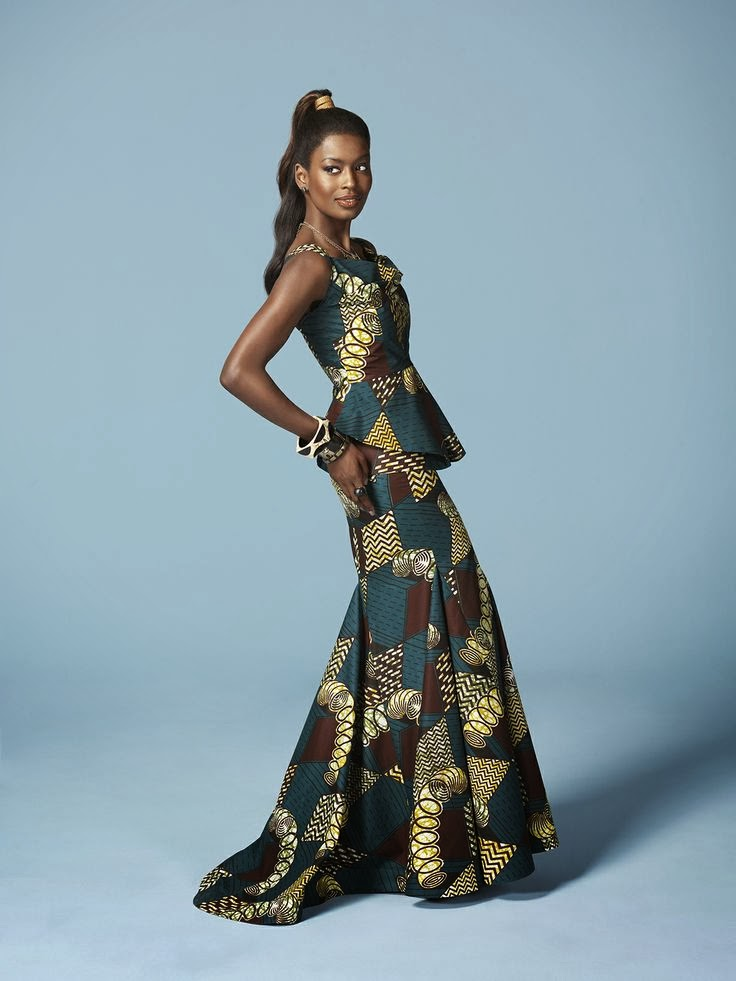 Subira Wahure Official African Couture Blog: KITENGE;LONG DRESSES