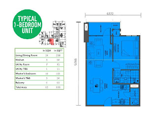 Solstice Makati One Bedroom Unit Plan