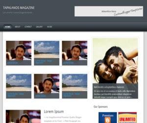 Tapalanos Magazine Blogger Template