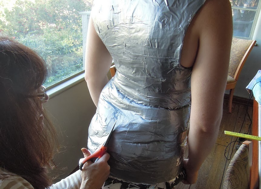 how to make a duct tape body form