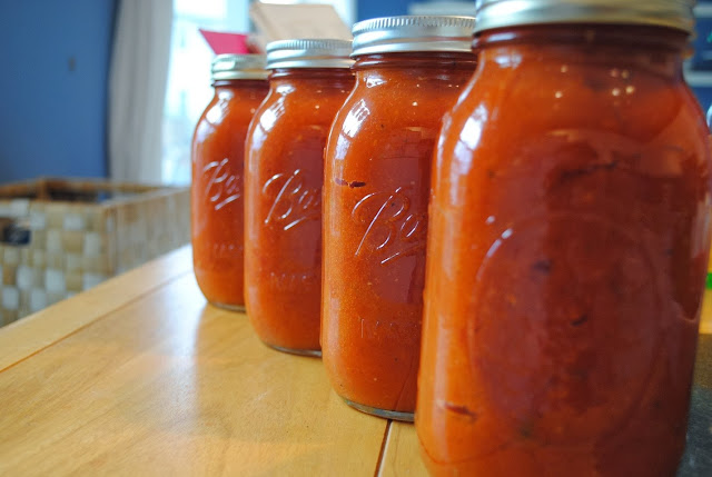 home-made spaghetti sauce