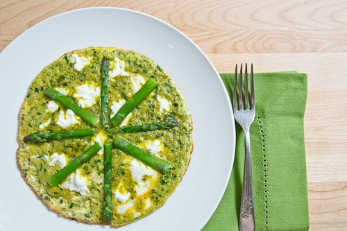 Ramp Pesto Omelette with Asparagus and Goat Cheese on Closet Cooking