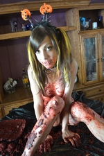 Cute teen Mary Jane Bloody Halloween Mess - Erotic BPM