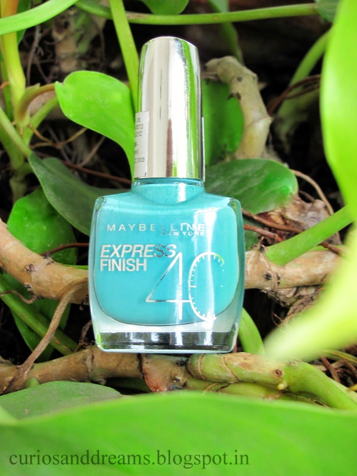 Maybelline Express Finish Nail Enamel Turquoise Lagoon Review, Maybelline Express Finish Nail Enamel Turquoise Lagoon NOTD