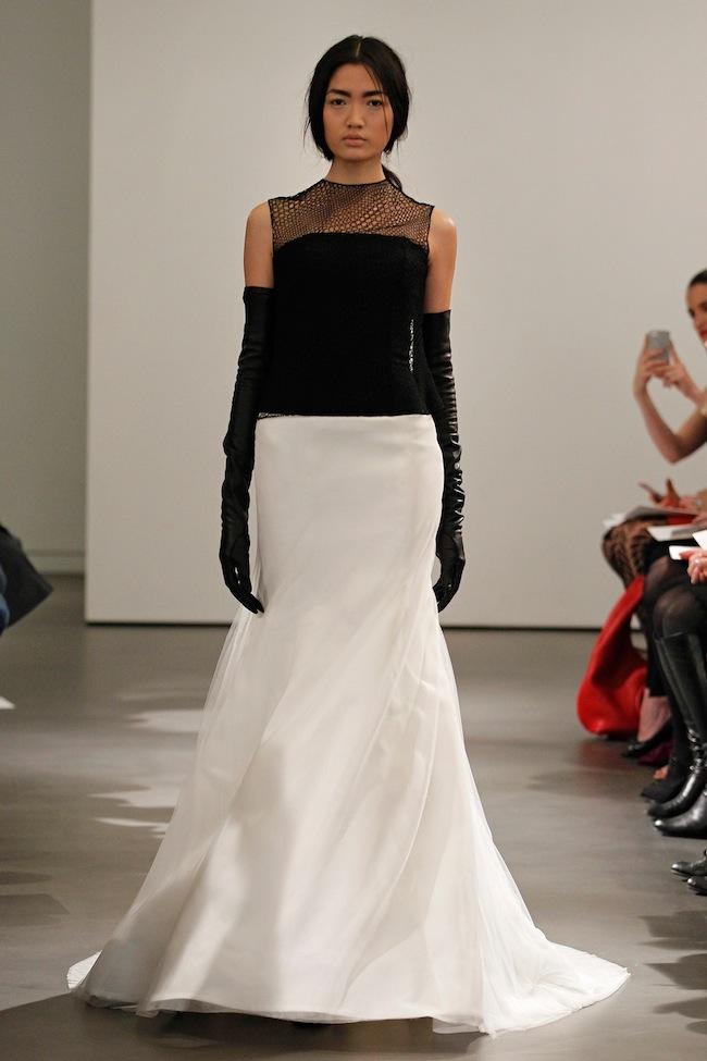 Leather Up: Vera Wang Spring Bridal 2014   The Bridal Collective Blog