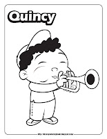 little einsteins coloring pages quincy