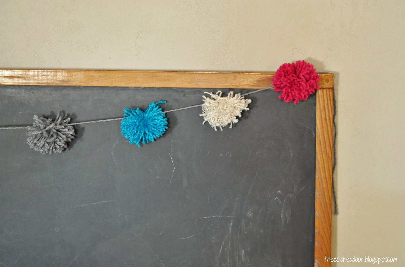 yarn pom poms - the colored door
