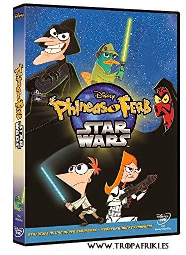 Película Phineas Y Ferb: Star Wars en DVD