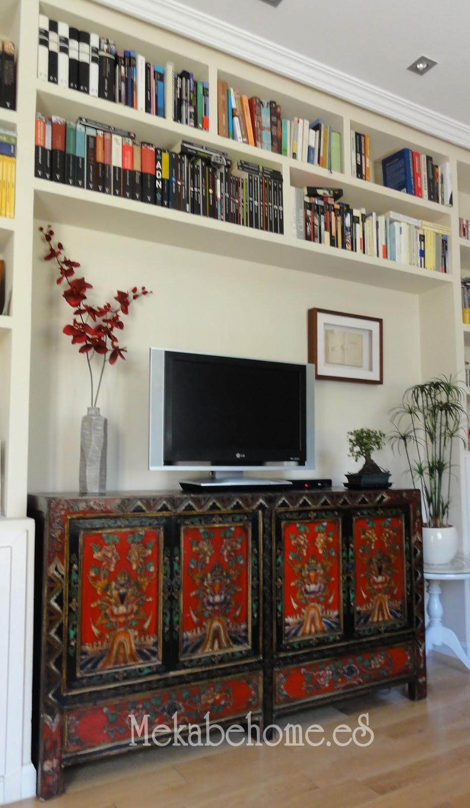 El nuevo hogar de nuestro aparador tibetano mekabe home - Muebles orientales madrid ...