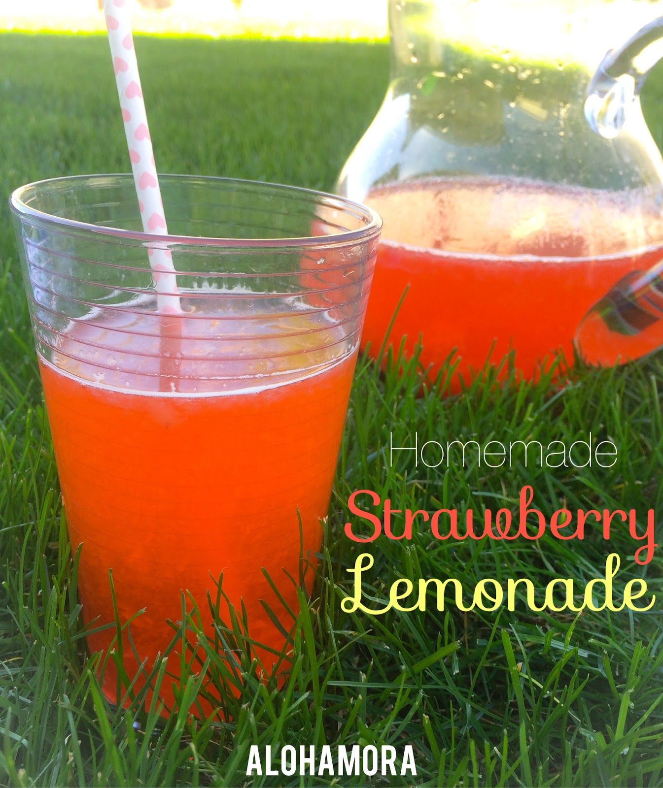 Easy Homemade, from scratch, Strawberry Lemonade.  All natural, and delicious.  Use fresh strawberries and lemons to make this delicious and refreshing drink. Alohamora Open a Book http://www.alohamoraopenabook.blogspot.com/ egg free, nut free, dairy free, gluten free, quick, fast, easy, kid friendly,
