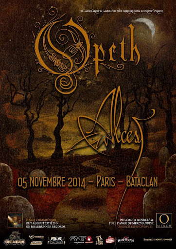 Opeth / Alcest @ Le Bataclan, Paris 05/11/2014