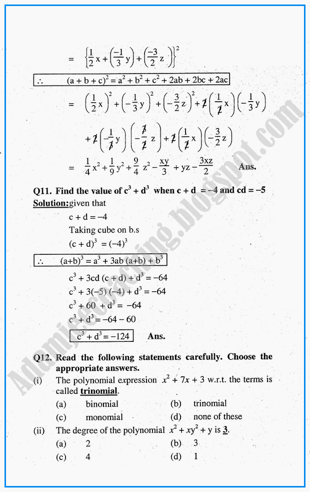algebraic-expressions-question-answers-mathematics-notes-for-class-10th