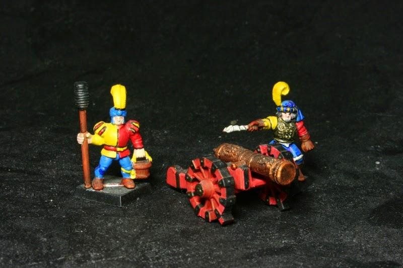1 cañón con una dotación de dos soldados de Battle Master