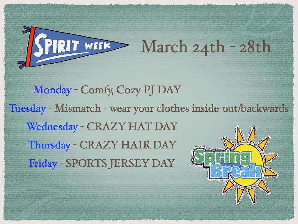 Unique Ideas For Spirit Week - Spring break spirit week