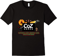 CoZ Games official t-shirt