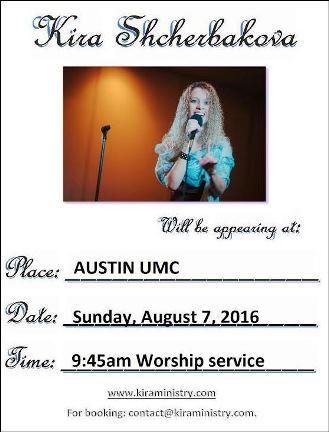 8-7 Kira Shcherbakona Austin UMC