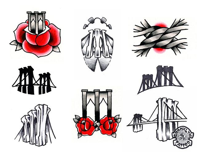 Tattoosday a tattoo blog celebrate the brooklyn bridge for Tattoo shop brooklyn
