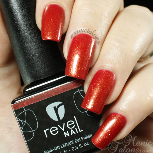 Revel Nail Gel Polish Lava Swatch