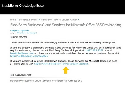 5 BlackBerry Business Cloud Services for Microsoft Office 365 is Now Available in Beta   Sign up Now