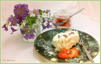 Summery Strawberry Roulade, with basil